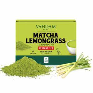 Matcha Lemongrass INSTANT TEA Premix - 10 Sachets