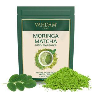 Moringa + Matcha Green Tea Powder -50 gm | Pure Japanese Matcha