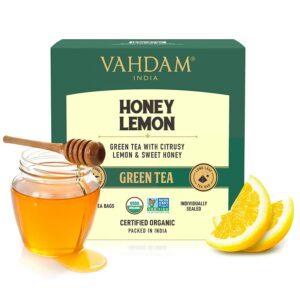 Honey Lemon Green Tea bags | Green tea with tangy lemon and Unprocessed Honey Flavour | Best Detox option | 15 Green tea Bags