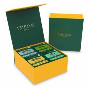 Green Tea Wellness Kit- 60 Tea Bags | 4 Flavors * 15 Green Tea Bags | 100% Natural Detox Tea | Green tea Bags for Weight Loss