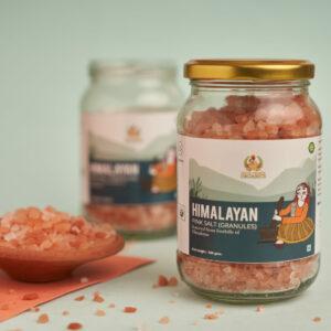 PROUD FARMER ORGANICS HIMALAYAN PINK SALT GRANULES - 500gms
