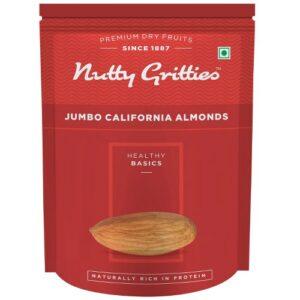 Nutty Gritties Jumbo California Almonds, Sanora, 200g