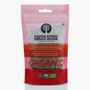 Green Sense Organic Bishop's Weeds Whole (Ajwain) - 100g