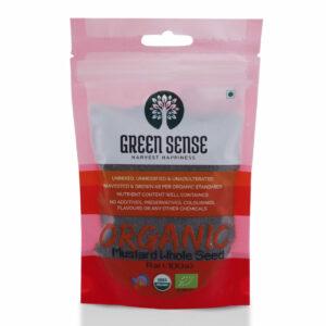Green Sense Organic Brown Mustard Seeds (Rai) - 100g