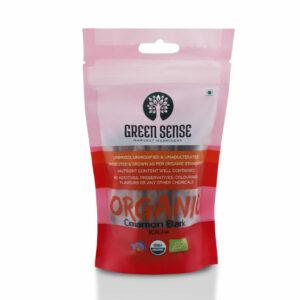 Green Sense Organic Cinnamon Bark (Dalchini) - 50g