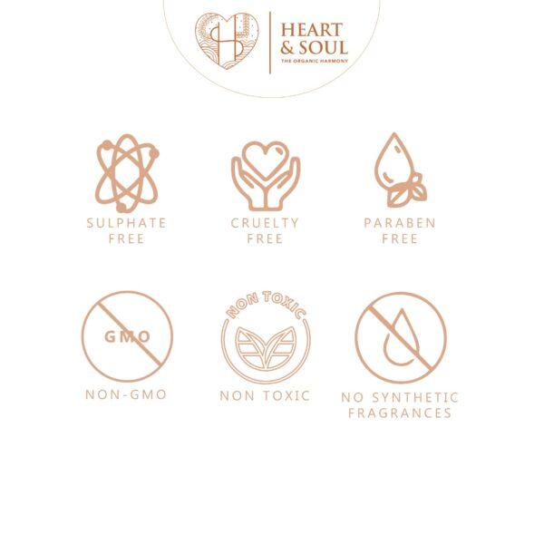 Heart and Soul Green Tea Regenerating Face Toner; 100% Pure and Natural No Parabens No SLS; 50ml