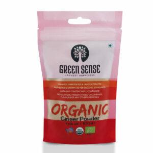 Green Sense Organic Ginger Powder (Adrak) - 100g