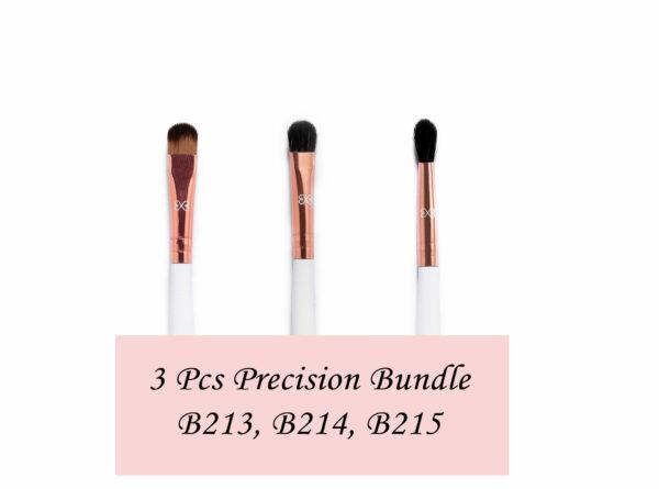 Boujee beauty 3Pcs Precision Eye Brush Bundle, S105