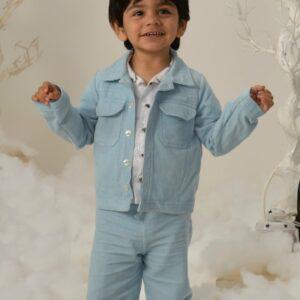 Jordan Corduroy Blue Jacket