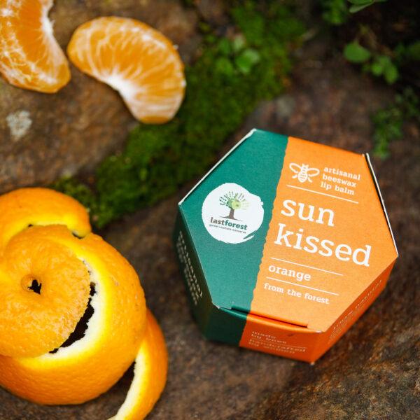 Last Forest Artisanal, Handmade Beeswax Lip Balm Orange