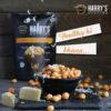 Harry's Makhana Cheese Foxnuts / Lotus Seeds / Phool Makhana - Roasted Fox Nuts, Flavoured Healthy Snacks (Each 60 gm) Pack of 3