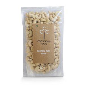 Conscious Food Organic Cashew Nuts 250g