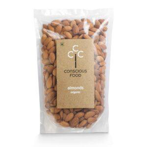 Conscious Food Organic Almonds 250g