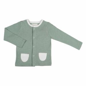 T-shirt Button Down Full Sleeve- Sage Green