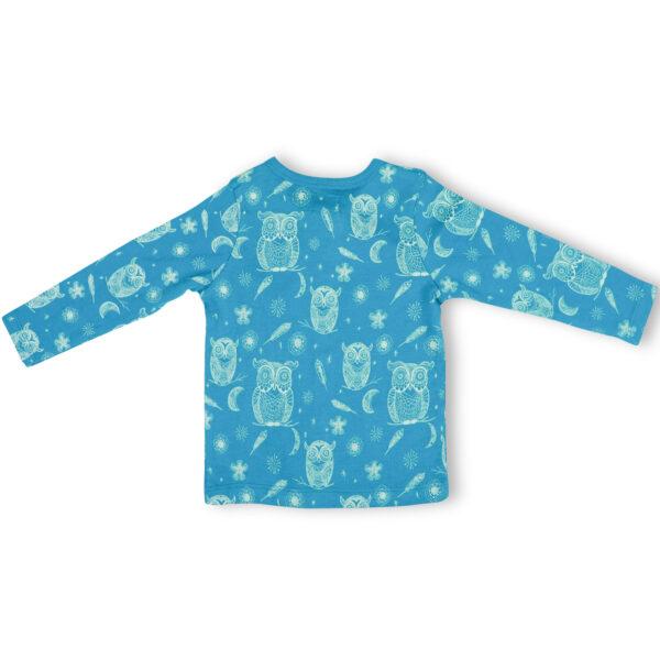T-shirt Button Down Full Sleeve- Hoot Hoot Owl
