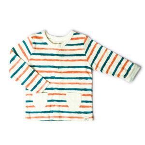 T-shirt Button Down Full Sleeve- Stripe Hype