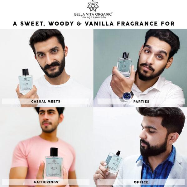 Bella Vita Organic Elite Perfume For Men Long Lasting Sweet Woody Scent - 100 ml