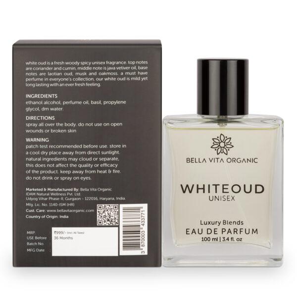 Bella Vita Organic White Oud Perfume for Men and Women Soft Oudh Long Lasting Fragrance Unisex - 100 ml