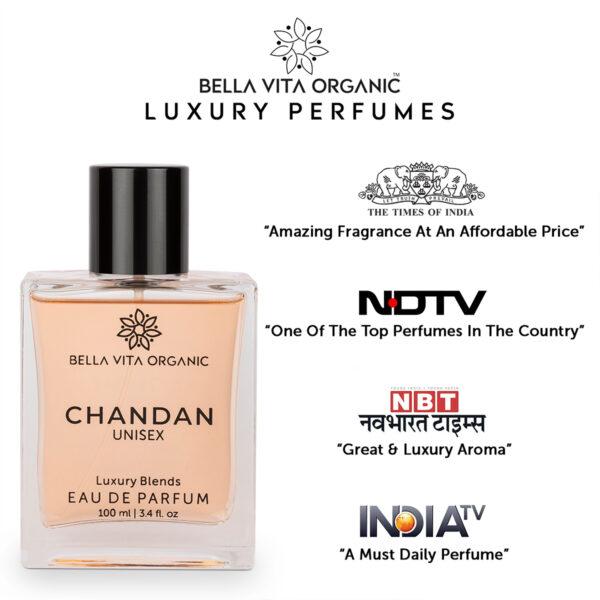Bella Vita Organic Chandan Unisex Perfume For Men & Women - 100 ml