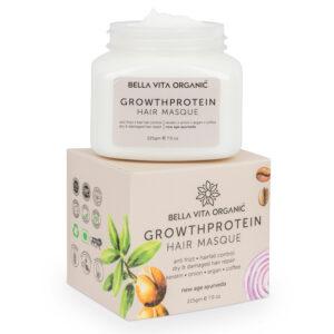 Bella Vita Organic Volume Protein Hair Spa Mask For Hairfall Control, Frizzy Hair Cream, Color Damaged Hair Repair & Growth With Keratin, Biotin, Argan, Onion, Tea Tree & Coffee - 225 gm