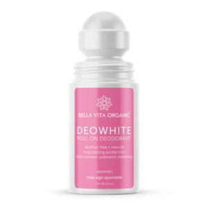 Bella Vita Organic DeoWhite Underarm Whitening Natural Roll On Deodorant For Women - 75 ml