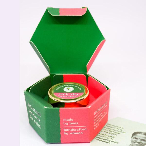 Last Forest Artisanal, Handmade Beeswax Lip Balm Pomegranate