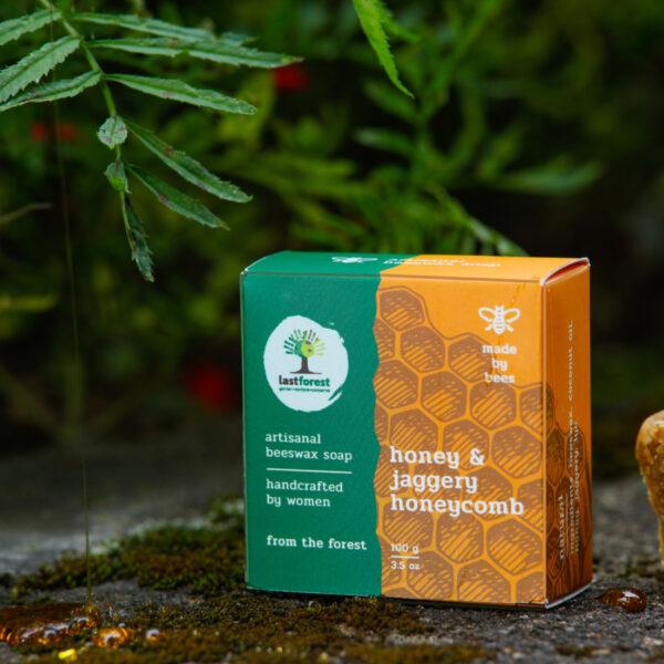 Last Forest Artisanal, Handmade Beeswax Honeycomb Soap 100gms Honey and Jaggery