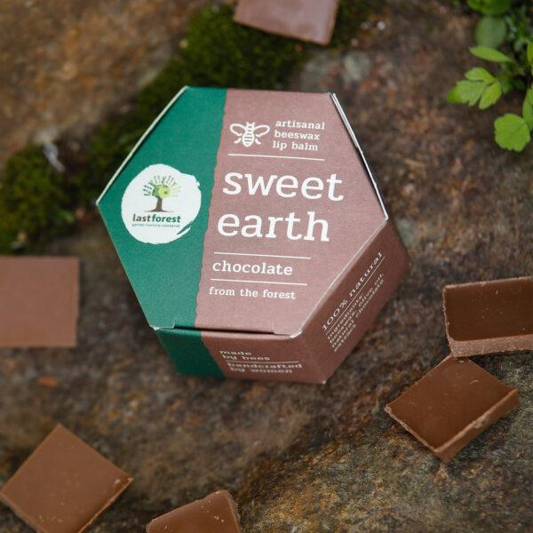 Last Forest Artisanal, Handmade Beeswax Lip Balm Chocolate