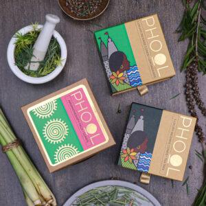 Phool Aromatherapy Combo Pack - Natural Incense Cones Tea Tree & Lemongrass