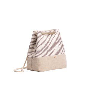 Zebra Stripes Convertible Backpack (Natural)