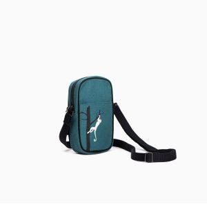 Monkeying Around Crossbody Mobile Sling Bag (Green)