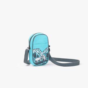 Polar Bear Love Crossbody Mobile Sling Bag (Aqua)