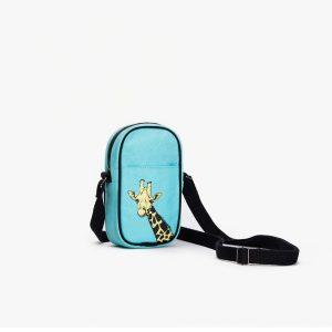 Gorgeous Giraffes Crossbody Mobile Sling Bag (Aqua)