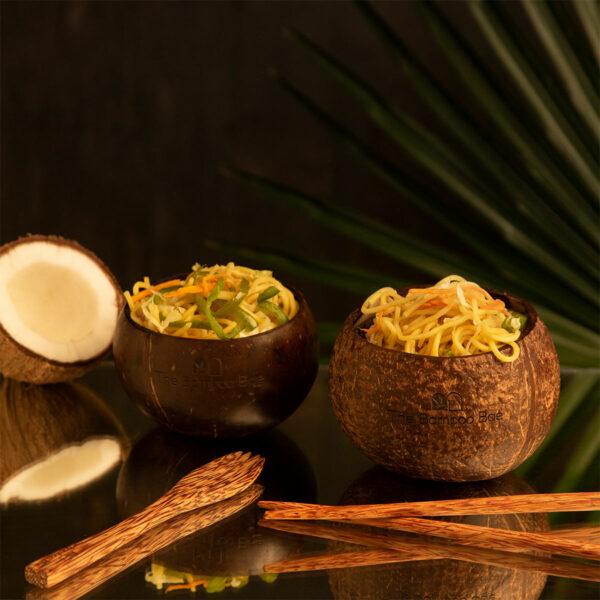 Coconut Wooden Cutlery | Spoon Fork Chopsticks Knife