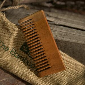 Neem Wood Comb   Detangling & Shampoo Comb