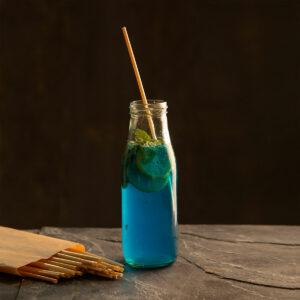 Natural Disposable 100 Straws | Wheat Stem Hay Biodegradable Straws | Zero Plastic & Eco friendly
