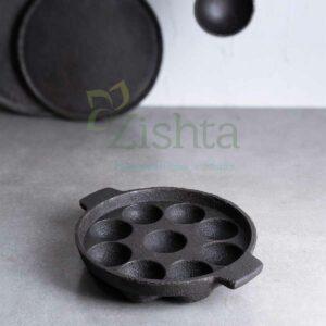 Zishta Cast Iron Kuzi Paniyarakal (Paddu/Appe Tawa): 9 cavities