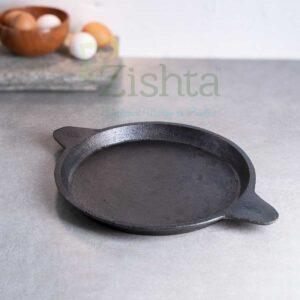 Zishta Cast Iron Raised Edge Pan /Fry Pan/ Omelette Pan