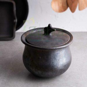 Zishta Hamlei: Manipur Black Pottery Gravy Pot