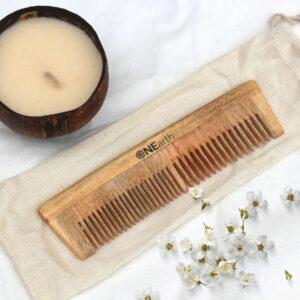Organic Neem Wood Comb Range - Pack of 1 ( 2 in 1 comb)
