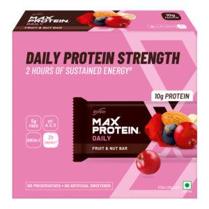 RiteBite Max Protein Daily - Fruit & Nut 300g - Pack of 6 (50g x 6)