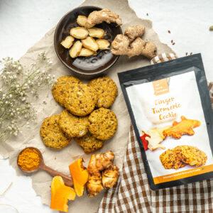 Crunchy vegan friendly protein cookies
