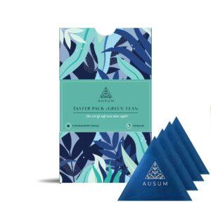 Ausum Tea Green Tea Taster Pack (15 Teabags) - All Organic Green Tea Blends - 100% Natural