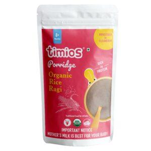 Timios Organic Rice & Ragi Porridge for 8+ Months