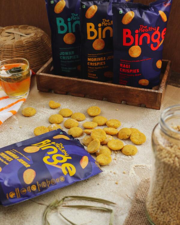 The Healthy Binge- Moringa Jowar crispies