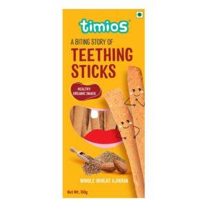 Timios Teething Sticks Whole Wheat Ajwain (150 g)