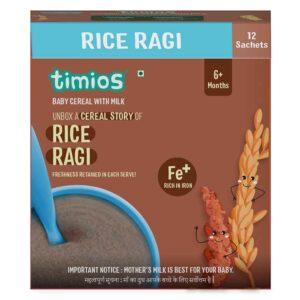 Timios Milk Based Baby Cereal Rice Ragi - 300g