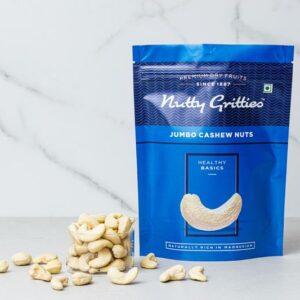 Nutty Gritties Premium Whole Cashews Nuts W240, 200g