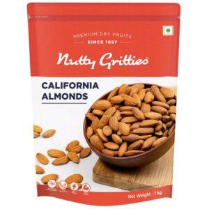 Nutty Gritties California Almonds Badam - 1Kg