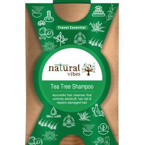 Natural Vibes ~ Ayurvedic Tea Tree Shampoo 30 ml ~ Controls dandruff and hair fall, repairs damaged hair ~ Travel Essential